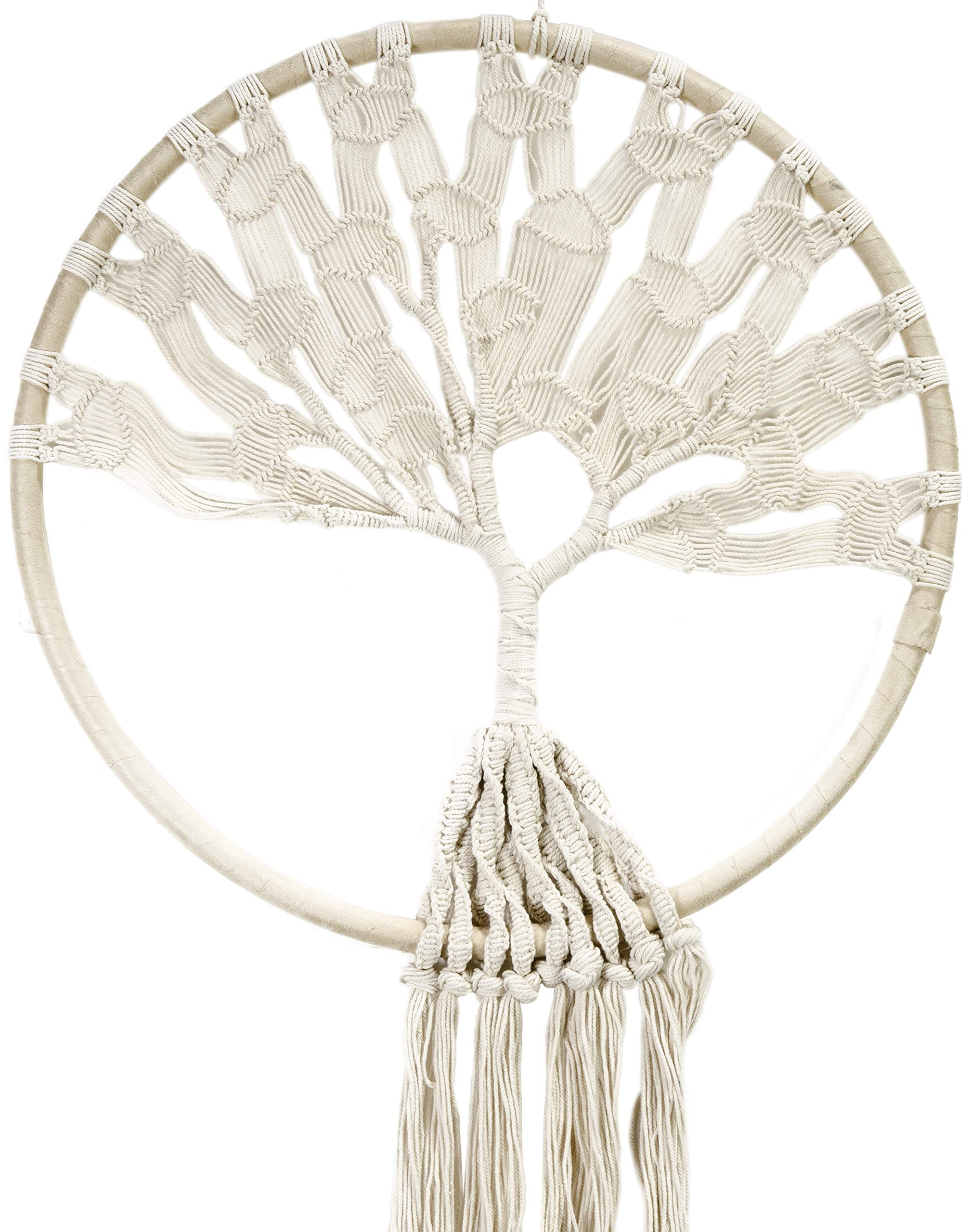 Macrame Hoop W/Tree of Life 51'' Wall Hanging- by Midwest Design Imports, Inc. (Image #1)