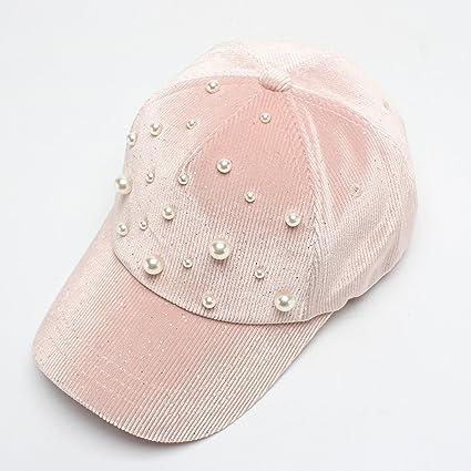 Perla decorada gorra de béisbol pana 2018 otoño nueva serie coreana estrella sombrero al por mayor