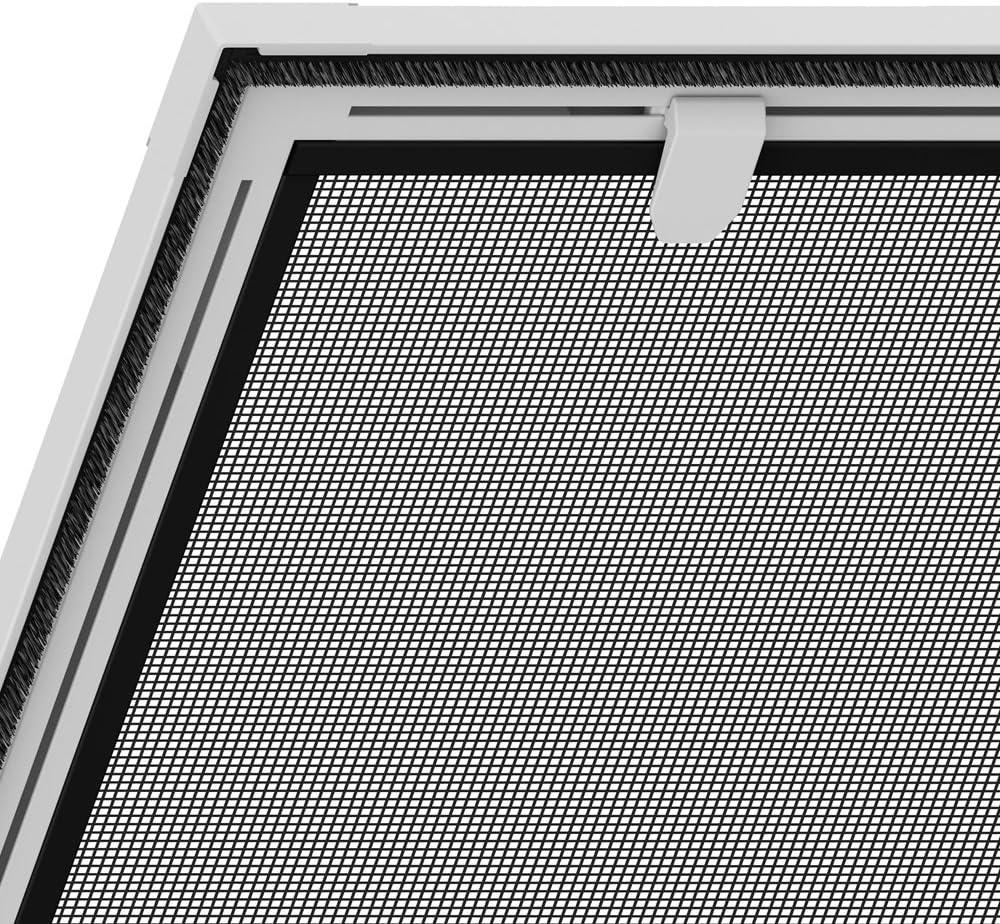 PROHEIM Insektenschutz f/ür Dachfenster 140 x 170 cm Alu Profil in wei/ß bedampftes aluminiumbedampftes Fliegengitter f/ür Sonnenschutz