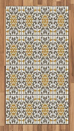 turc Motif Zone Tapis par Ambesonne, carreaux de spirale ...