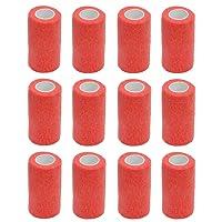 Bandage cohésif–12rouleaux x 10cm x 4,5m First Aid Bandages pour Sport, cobox Pet Vet Wrap bandage à adhérent