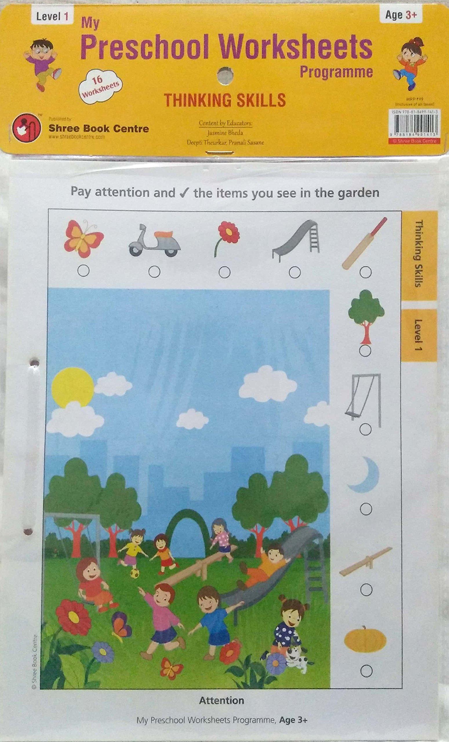 Buy My Preschool Worksheets Programme Thinking Skills Level 1 Book ...
