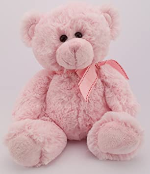 Baby Box Shop Oso DE Peluche Rosa 13CM - Regalo para un bebé o Niño Pequeño