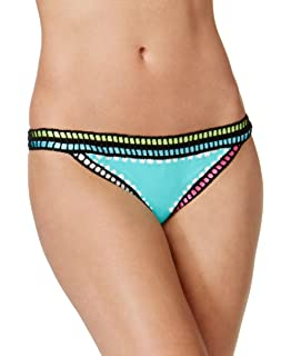 af4ad01add6ea Amazon.com: Bar III Weave It Triangle Bikini Top Aqua Large: Clothing