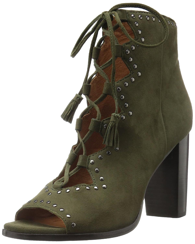 FRYE Women's Gabby Ghillie Stud Boot B01N7OMWSF 9 B(M) US|Forest Suede
