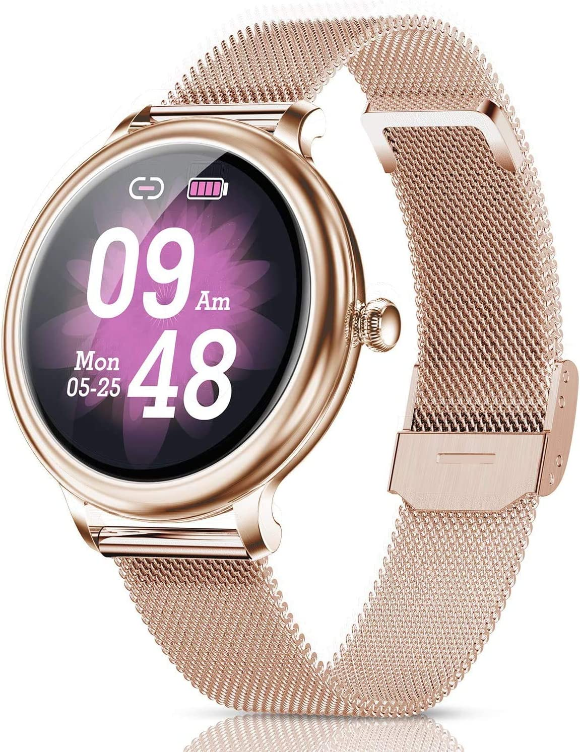 Catshin Smart Watch for Android Phones,Fitness Tracker,Fitness Watch IP68 Waterproof Bluetooth,Heart Rate Monitor Watch Compatible Samsung iPhone,Smart Watch for Women for Android