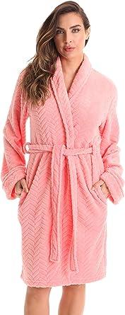 spa robe dressing gown bridesmaid robe beach robe. Women/'s flame pink colour soft cotton kimono bathrobe