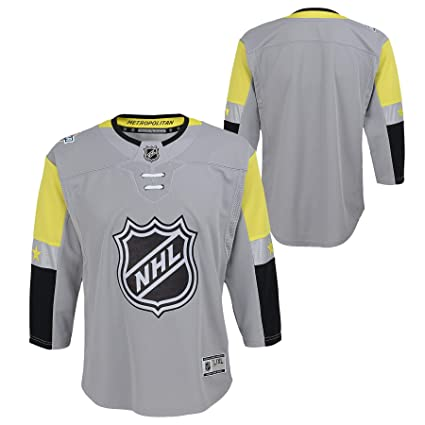 d0681c039 Outerstuff Youth 2019 NHL All Star Game Metropolitan Premier Player Grey Jersey  (Youth S/