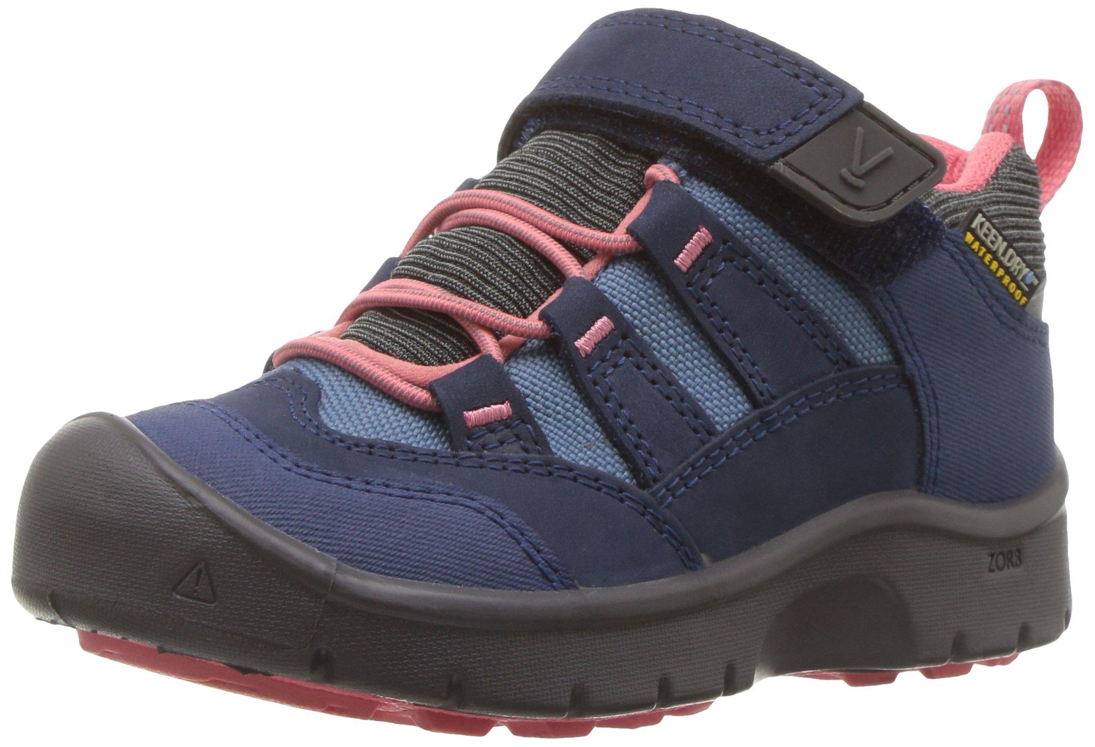 KEEN Kids' Hikeport WP Hiking Shoe,Dress Blues/Sugar Coral,9 Toddler US Toddler