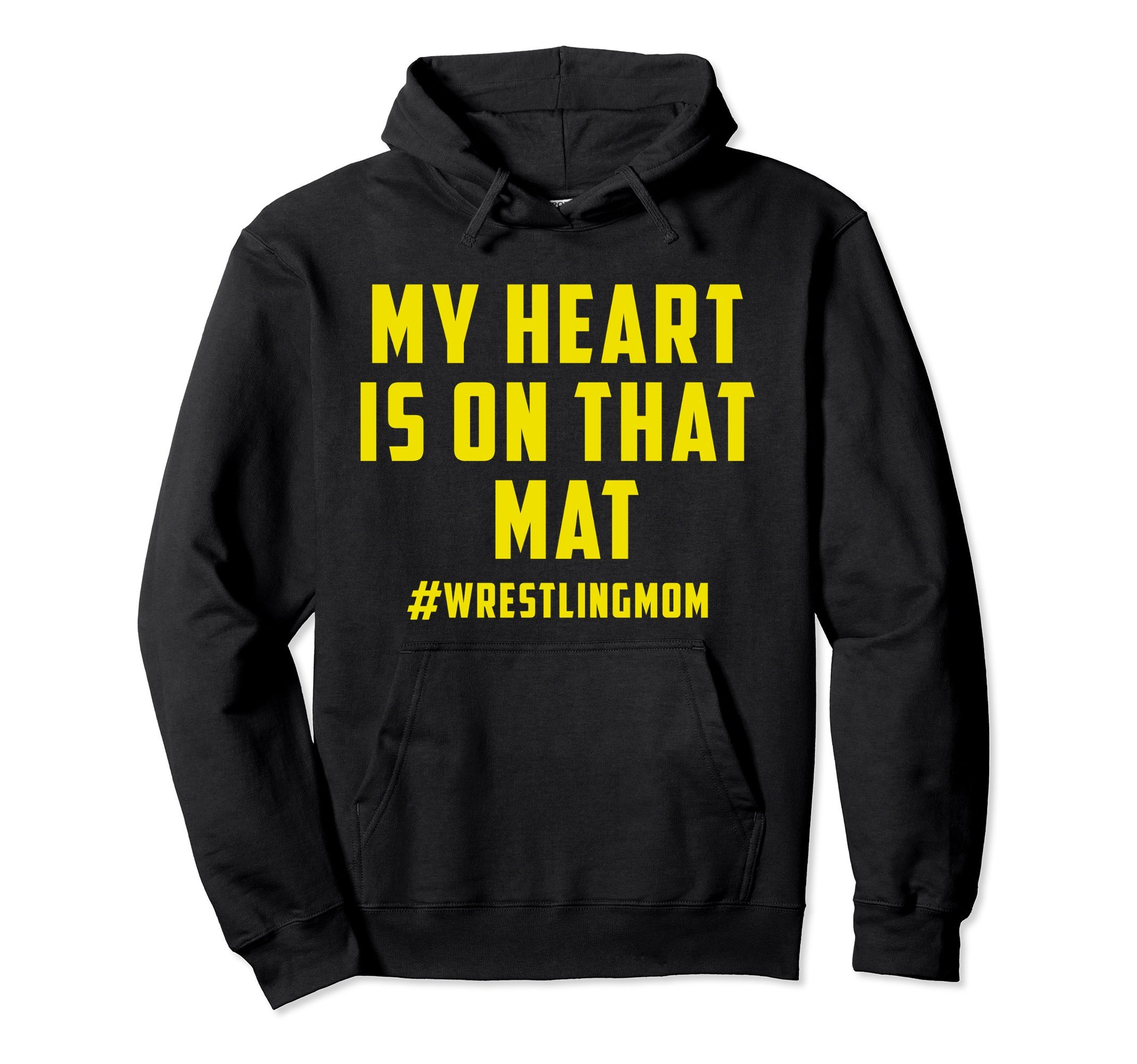Unisex My Heart Is On That Mat Wrestling Mom Hoodie 2XL Black by My Heart Is On That Mat Hoodie