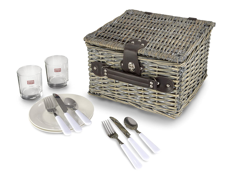 #Picknickkorb für 2 Personen mit viel Ausstattung#