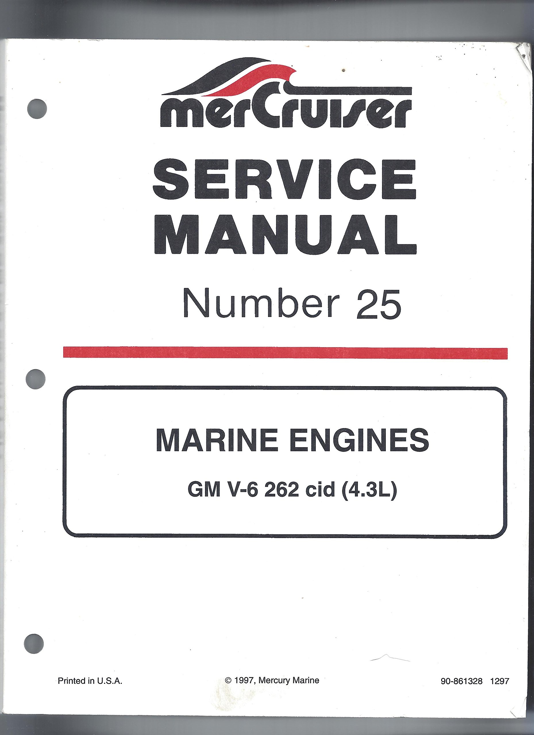 Mercury MerCruiser Service Manual Number 25 Marine Engines GM V-6 262 cid  (4.3L): Service Department Mercury Marine: Amazon.com: Books