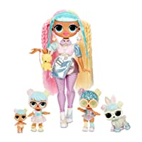 L.O.L. Surprise! O.M.G. Candylicious Family Bundle with OMG Doll, 2 Tots, Pet and Lil Sister with 45+ Surprises - Amazon Exclusive, Multicolor