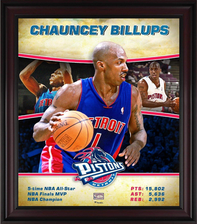 ab526518cc3 Chauncey Billups Detroit Pistons Framed 15