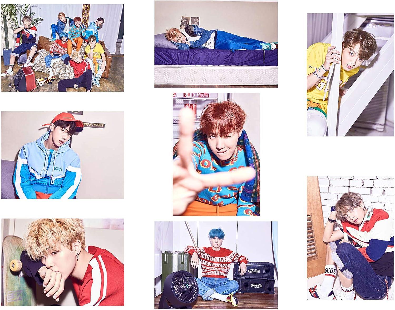 K03 Fanstown Kpop BTS Bangtan Poster Set 11.7 x 8.3 inch A4 Size Coated Paper 8 pcs Map of The Soul 7