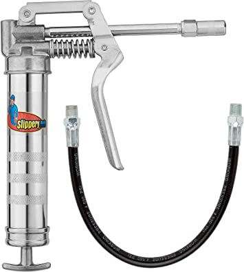 """14Oz 4500PSI Aluminum Heavy Duty Grease Gun Cartridge Pistol Grip 12/"""" Flex Hose"""