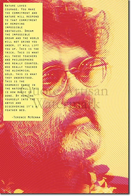 Terence Mckenna Art >> Terence Mckenna Art Print 2 Nature Loves Courage Quote Photo Poster Unique Gift Size 18 X 12 Inches