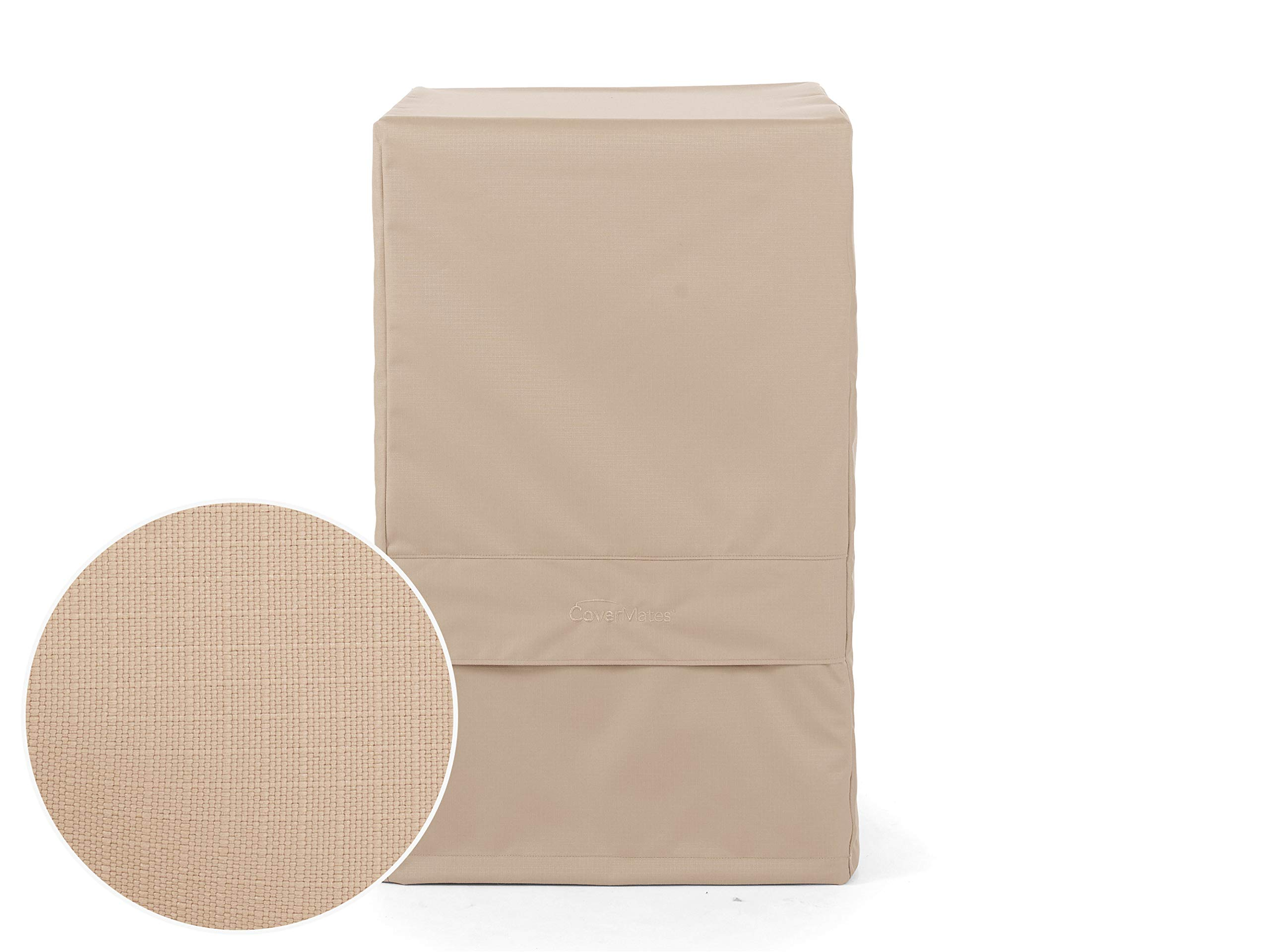 Covermates - Smoker Cover - Fits 27 Inch Width, 20 Inch Depth and 40 Inch Height - Ultima Ripstop - 600D Fade/Water Resistant Poly - Auto-Locking Locking Drawcord - 7 Year Warranty - Ripstop Tan