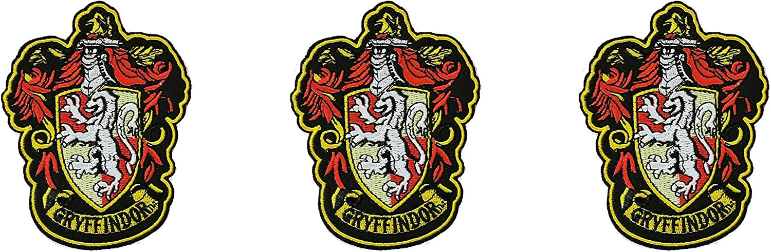 Harry Potter Gryffindor Iron-on Patch 4.5 x 3.55 InspireMe Family Owned