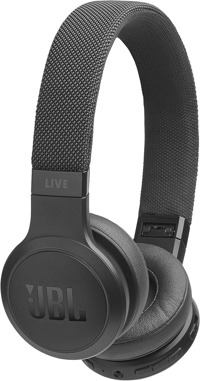 JBL LIVE 400BT- Auriculares Inalámbricos con Bluetooth, Asistente de voz integrado, Calidad de Sonido JBL y función TalkThru y AmbientAware, Hasta 30h de música, Color Negro, con Alexa integrada