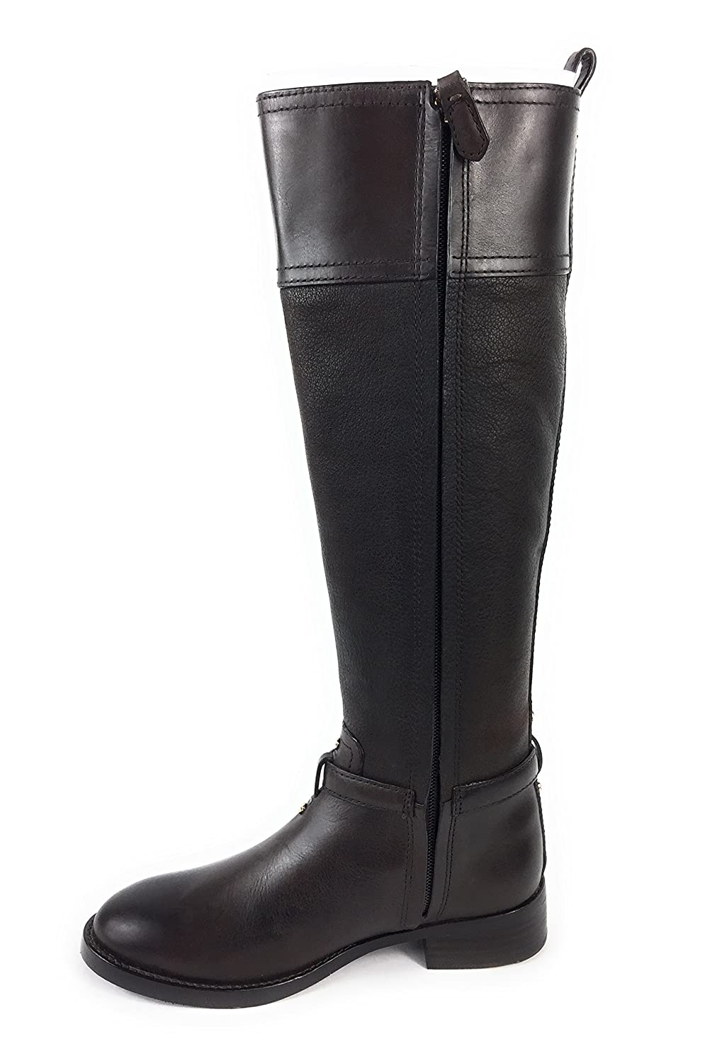 34e71470372 Amazon.com   Tory Burch Simone 35mm Tall Riding Boot Chocolate Buffalo  Leather 4   Sports   Outdoors