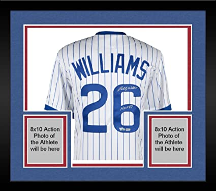 601a93cac2b Framed Billy Williams Chicago Cubs Autographed Majestic Cooperstown  Collection White Replica Jersey with HOF 87 Inscription