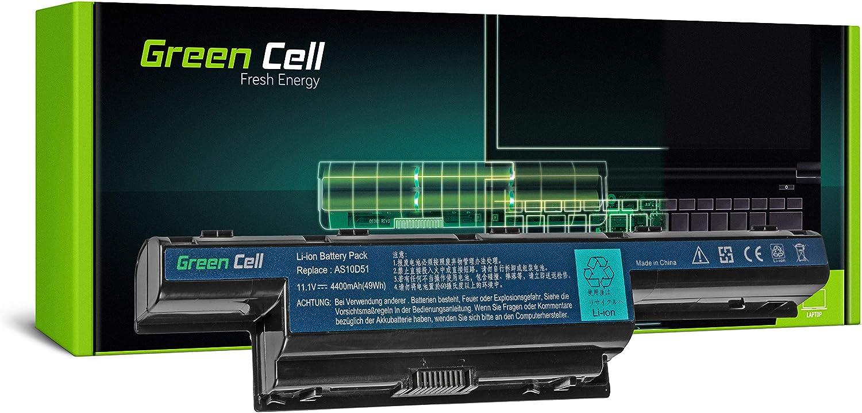 Green Cell® Standard Serie Batería para Acer Aspire E1-521 E1-531 E1-531G E1-571 E1-571G V3-551 V3-571 V3-571G V3-771 V3-771G Ordenador (6 Celdas 4400mAh 11.1V Negro)
