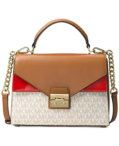 aa44066af4dfe Amazon.com  MICHAEL Michael Kors Sloan Medium Top-Handle Logo Leather  Satchel