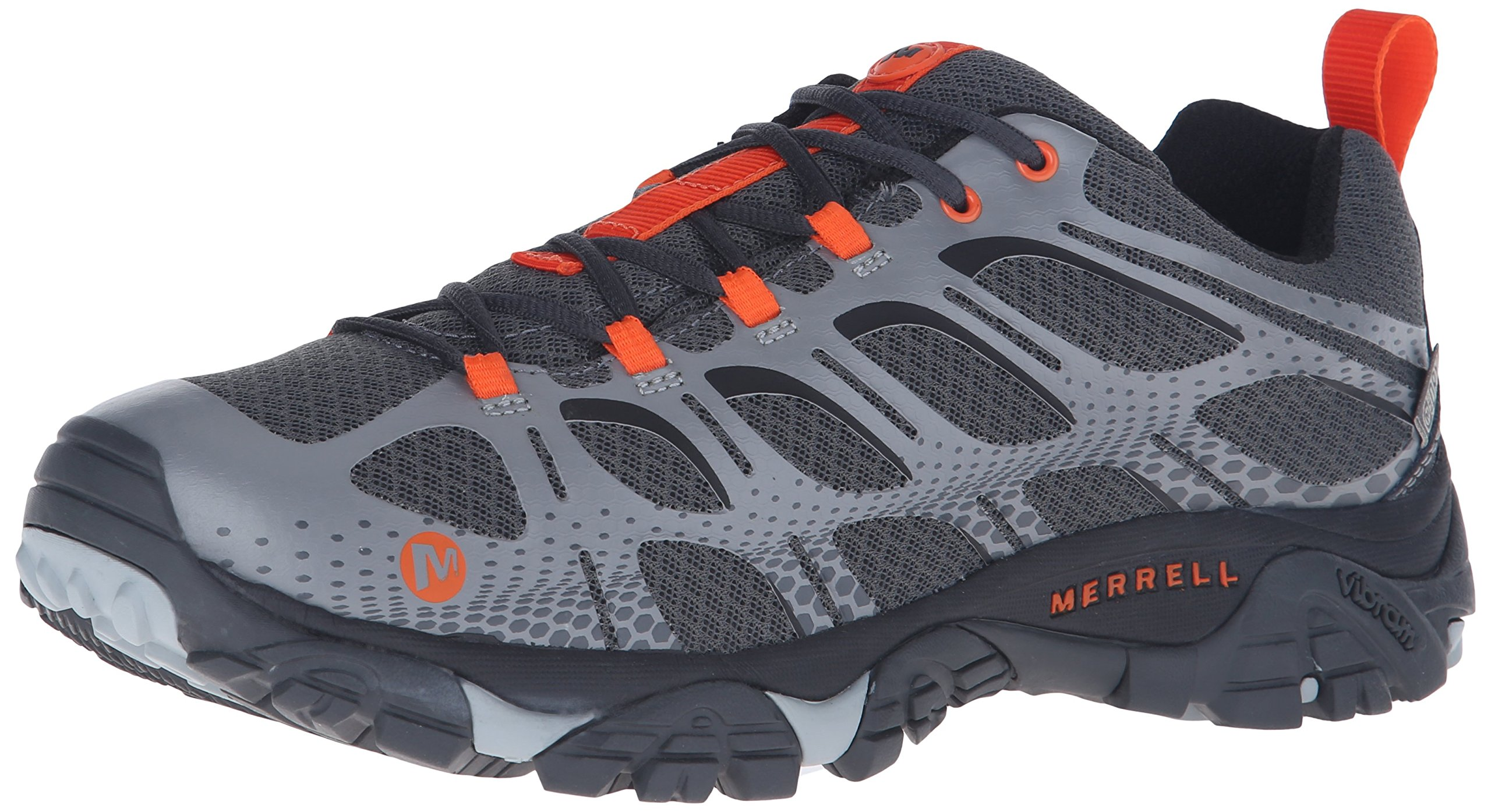 Merrell Men's Moab Edge Waterproof Hiking Shoe, Grey, 13 M US by Merrell