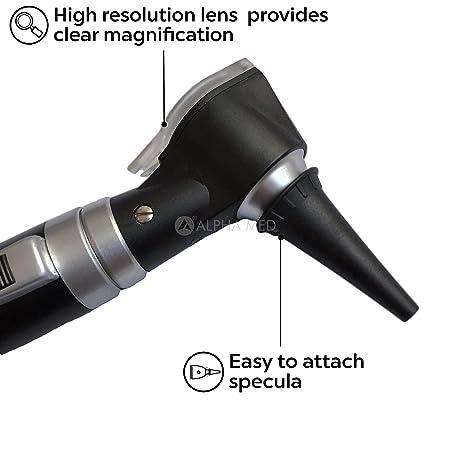 Amazon.com: Alpha Med - Juego de otoscopios con lupa (4X) y ...