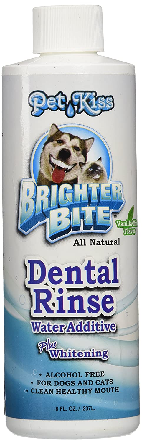 Pet Kiss Brighter Bite Dental Rinse for Pets, 8-Ounce
