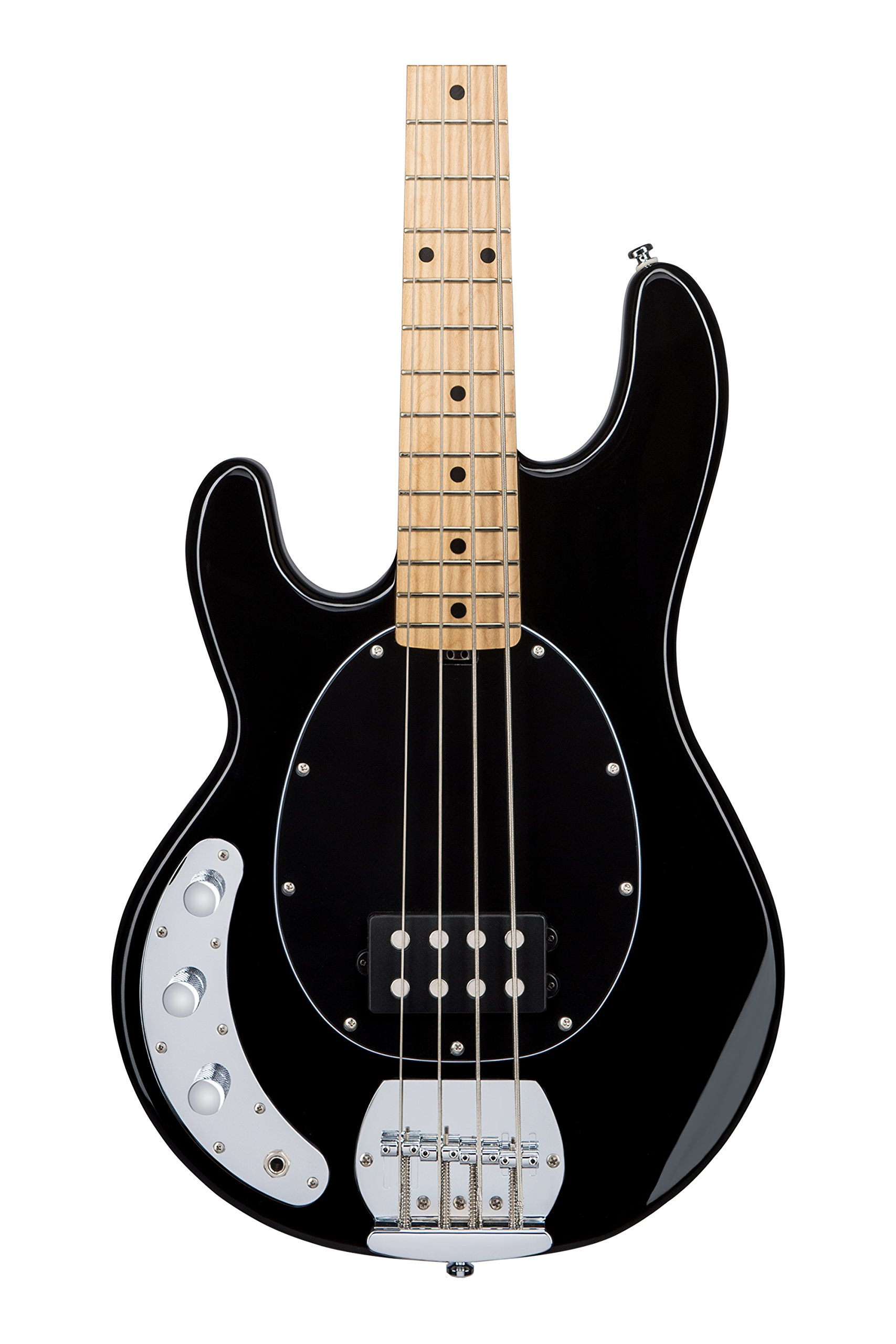 Sterling by Music Man S.U.B. Series Ray4 StingRay Bass, Left-Handed, Black by Sterling by Music Man (Image #2)