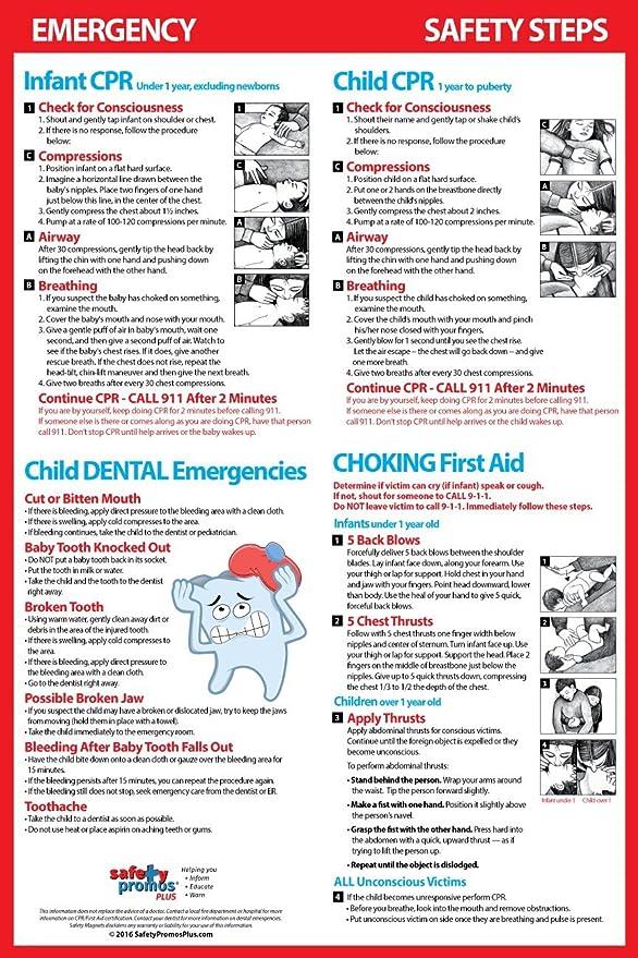 Amazon.com: Infantil/Niño CPR, asfixia & Dental Emergencias ...