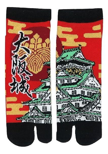 41220310a9d Japanese Ninja Tabi Socks Shinobiya Original  Osaka Castle at Amazon  Women s Clothing store