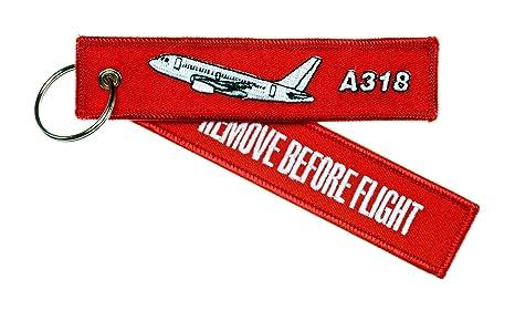 Llavero remove BEFORE FLIGHT ---Airbus A318 ---Incluye anillo para llavero tipo