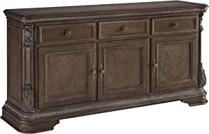 Signature Design By Ashley - Charmond Dining Room Buffet - Traditional Style - Brown