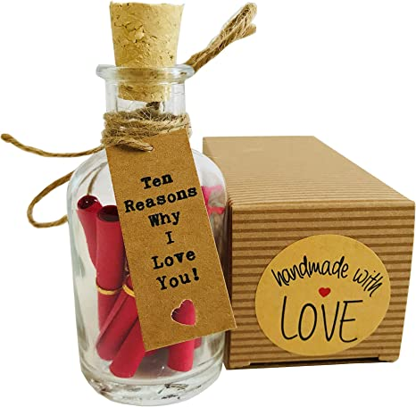Amazon Com Little Jar Of Big Ideas Ten Reasons Why I Love You To The Person I Love Unique Present Artisan Handcrafted Gift Romantic Red Home Kitchen