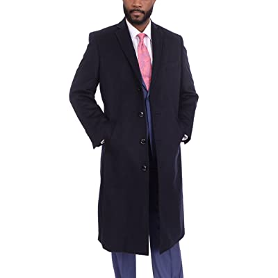 08155d04f Mens Single Breasted Full Length Wool Cashmere Blend Overcoat Top ...