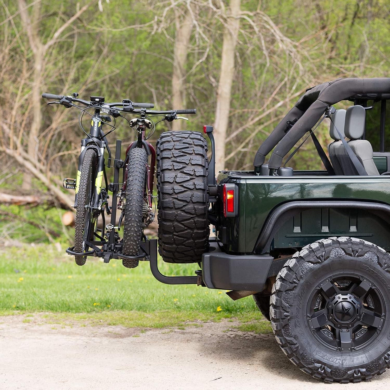 "KAC Overdrive Sports K2 2"" Hitch Mounted Rack 2-Bike Platform Style Carrier"