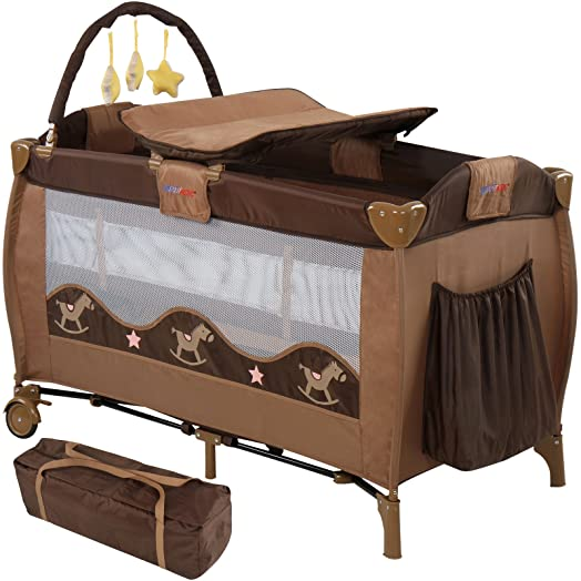 infantastic baby bed travel cot portable child nursery furniture with toys design choice