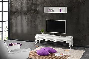 Amazon Com Mare Collection Hydra Mid Century Modern White Tv