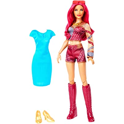 WWE Superstars Sasha Banks Doll & Fashion: Toys & Games