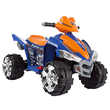 Battery Operated Ride On Toys >> Lil Rider Quad Battery Powered Ride On Toy Atv Four Wheeler With Sound Effects Boys Girls 2 5 Year Olds Blue Orange