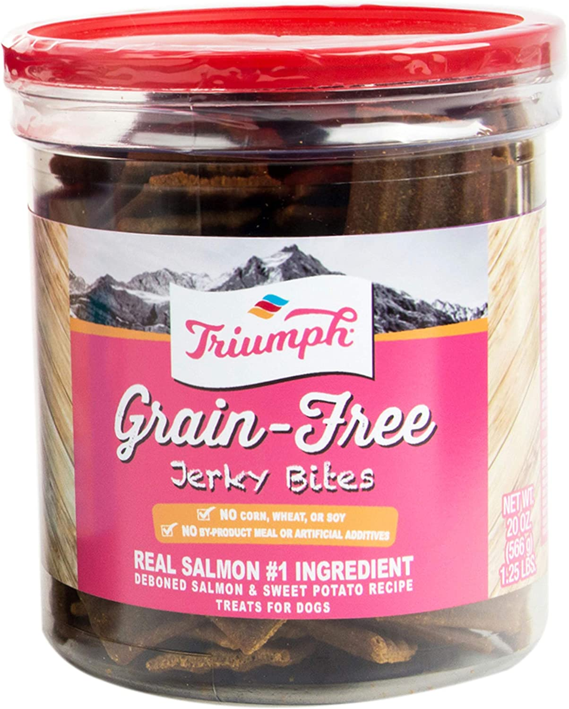 Triumph Grain-Free Jerky Bites, Salmon and Sweet Potato - 20 Ounce