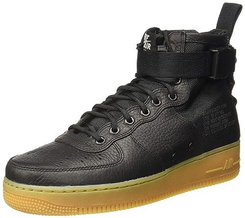 Air Cuir 1 Chaussures Nike Pour En Et Sf Noir Mid Homme Wmns Force PXnkwO80