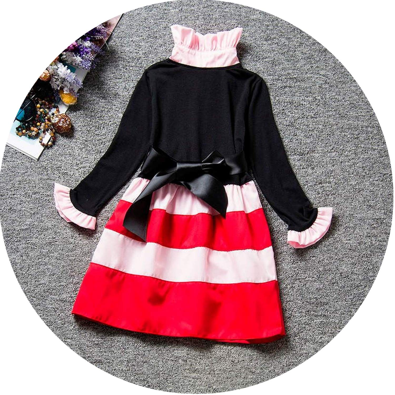 64c35262b Amazon.com: Winter Baby Dress for Girl Long Sleeve Princess Girls Dresses  Polka Dot Little Baby Birthday Party Dress Casual Kids Clothes,As Photo3,4:  ...