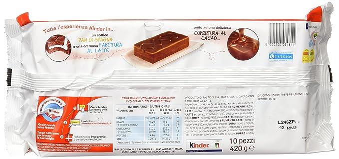Delice Barra Choco C/Leche Paq 10 X 42G: Amazon.es: Alimentación y bebidas