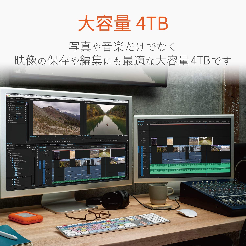LaCie Rugged Thunderbolt USB-C 4To disque dur externe mobile 1x Thunderbolt, 1X USB-C STFS4000800