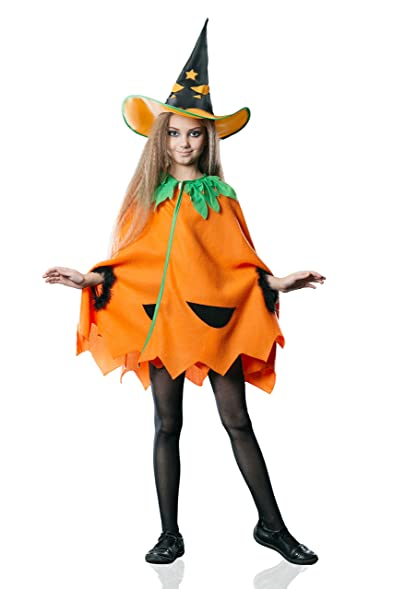Kids Juniors Girls Cute Pumpkin Halloween Costume Vegetable Dress Up u0026 Role Play (3-  sc 1 st  Amazon.com & Amazon.com: Kids Juniors Girls Cute Pumpkin Halloween Costume ...
