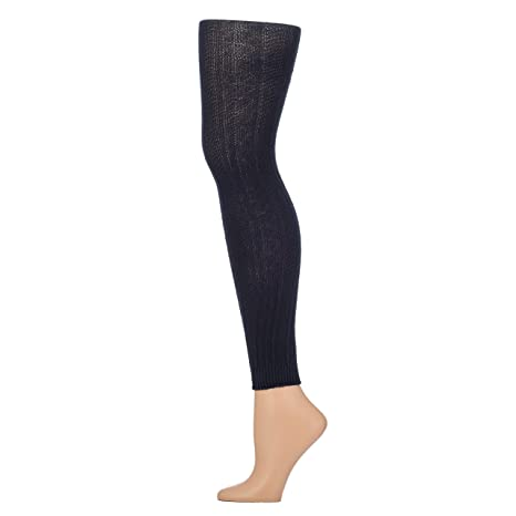 9550ab39413b2 Mixit Footless Leggings Cable Knit Sweater Tights Navy Blue 2-Pair Size S/M  (S/M, Navy Blue) at Amazon Women's Clothing store: